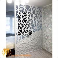 Резная перегородка 160х250 см., геометрический орнамент - частичная прорезка