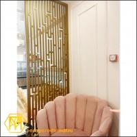 "Декоративная перегородка, окрашивание под ""золото"" 80х253 см."